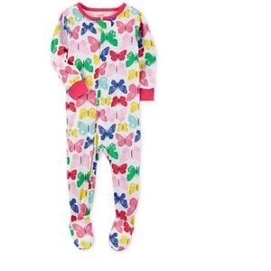 CARTER'S BUTTERFLY FOOTED PAJAMAS (NWT)
